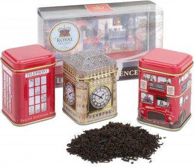 Набор черного чая Ahmad Tea London Experience Caddies 3 х 25 г (54881112772)