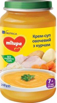 Упаковка овочевого супу з курчам Milupa для дітей від 7 місяців 200 г х 6 шт. (5900852045288)