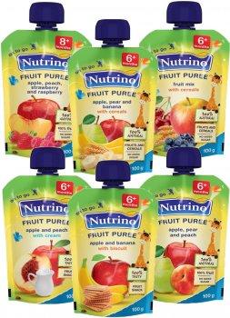 Упаковка фруктового пюре Nutrino Мікс 100 г х 6 шт. (86060196574681)