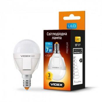 Лампа G45 E14 7Вт 700Лм 3000К, VL-G45-07143, 24009, Videx