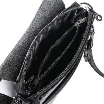 Мужская сумка через плечо из кожзама DR BOND GL 2060 black