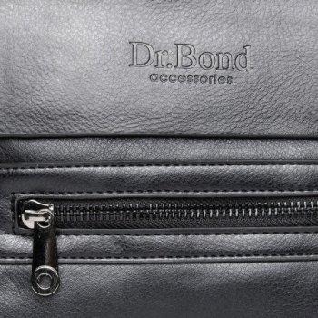 Мужская сумка через плечо из кожзама DR BOND GL 3151 black