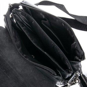 Мужская сумка через плечо из кожзама DR BOND GL 3152 black