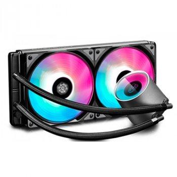 Система водяного охлаждения Deepcool Castle 280 RGB, Intel: LGA2066/2011/1151/1150/1155/LGA1366, AMD: TR4/AM4/AM3+/AM3/AM2+/AM2/FM2+/FM2/FM1, 323x146x27 мм, 4-pin