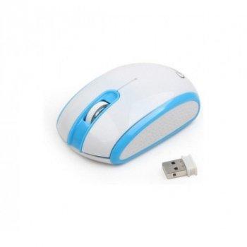 Мышь Gembird MUS-105-B USB интерфейс, бело-синий цвет