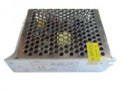 Блок живлення адаптер Спартак 12V 5A S-60-12 Metall