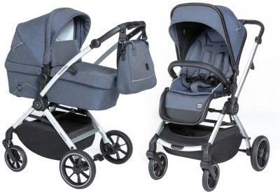 Универсальная коляска 2 в 1 Baby Design Smooth 03 Navy (203169)