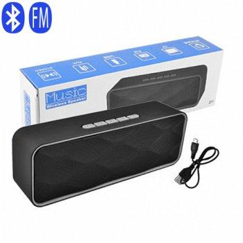 Bluetooth-колонка SC-211, c функцією speakerphone, радіо, grey