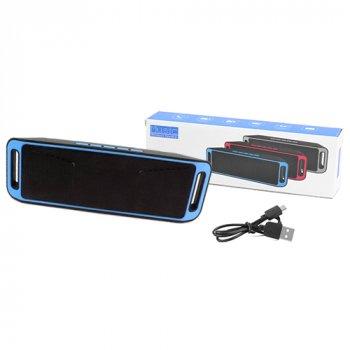 Bluetooth-колонка SC-208 c функцією speakerphone, радіо, blue