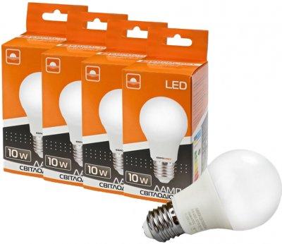 Набір світлодіодних ламп Евросвет 10 W 3000 K Е27 (56867) 4 шт.