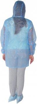Одноразовый халат Мастер 7 с капюшоном Голубой (Х-1)