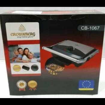 Електрогриль Crownberg CB-1067 притискної з терморегулятором 2000Вт SA