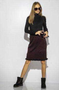 Спідниця Time of Style 120PANI022 Чорно-бордовий