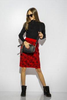 Спідниця Time of Style 120PANI022 Червоно-чорний