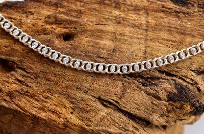 Женский серебряный браслет Meridian 925 пробы Арабский бисмарк с фианитами 20 размер 24012/4-2,0120