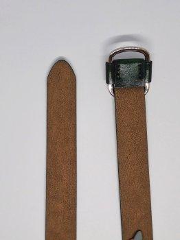 Женский кожаный ремень TIA зеленый A-1009 100см