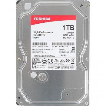 Накопичувач HDD SATA 1.0 TB Toshiba P300 7200rpm 64MB (HDWD110UZSVA)