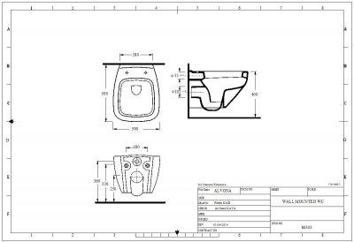 Унітаз підвісний EGE VITRIFIYE Alvona 86303 із сидінням Soft Close дюропласт