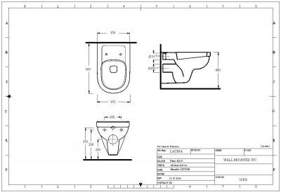 Унитаз подвесной EGE VITRIFIYE Lagina 35303 с сиденьем Soft Close дюропласт