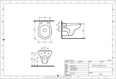 Унитаз-биде подвесной EGE VITRIFIYE Likya 10303 с сиденьем Soft Close дюропласт