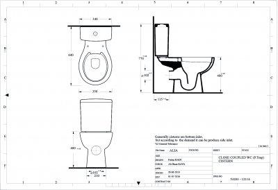 Унітаз-компакт EGE VITRIFIYE Alia P-Trap 53203 безобідковий із сидінням Soft Close дюропласт