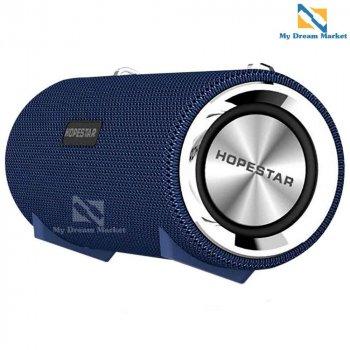 Бездротова колонка Hopestar H39 гучний звук і потужні баси - з гучномовцем - Портативна блютуз акустична музична система USB - вологозахищена ХР6 з потужним акумулятором, Синій