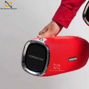 Бездротова колонка Hopestar A6 блютуз переносна портативна з вбудованим мікрофоном для гучного зв'язку - Музична вологозахищена акустична система підтримує всі пристрої Bluetooth, Red