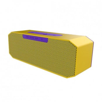 Портативна колонка Hopestar P8 USB переносна з вологозахистом c Bluetooth і функцією гучного зв'язку + функцією PowerBank – Музична акустична система з хорошим звучанням для вулиці і будинки, Yellow