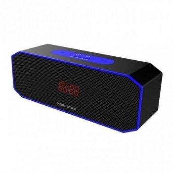 Бездротова колонка Hopestar P8 блютуз з функцією гучномовця і потужним звуком - Музична акустична система з USB вологозахисним корпусом IPX6 ЮСБ для вулиці і вдома, Black – Blue