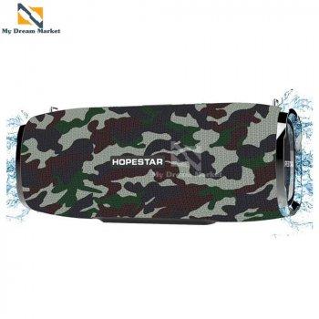 Колонка Hopestar A6 музична блютуз з сабвуфером - підтримує microSD і всі пристрої з Bluetooth - Портативна бездротова акустична блютуз система + з потужним басом + USB і AUX, Camouflage