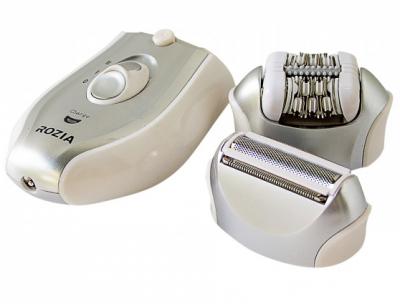 Епілятор жіночий електробритва 2-в-1 Rozia HB-6005 Silver