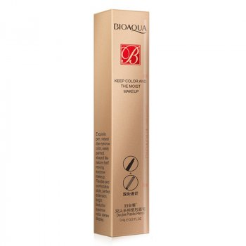 Олівець для брів водостійкий двосторонній BIOAQUA Double 0,4 г Dark Brown