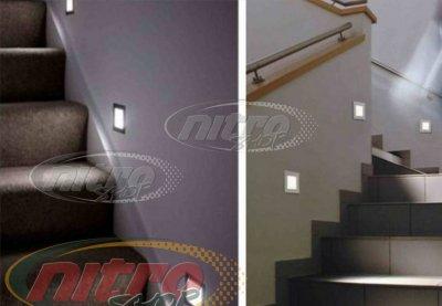 Светильник подсветка для лестницы светодиодный LED Horoz Electric PERLE 1.2Вт 220В Белый свет IP54 (079-021-0002)