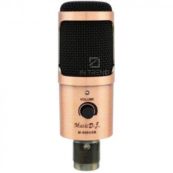 Студійний конденсаторний мікрофон для звукозапису Music D. J. M-900U – кращий бюджетний професійний студійний конденсаторний usb мікрофон для студійного запису голосу вокалу – висока чутливість мікрофона