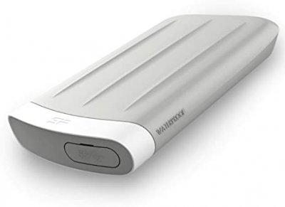 """Жорстку диск зовнішній SiliconPower Armor USB 3.2 Gen1 Armor A65 2TB 2,5"""" Сріблястий (SP020TBPHD65MS3G)"""