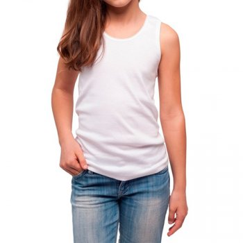 Майка для девочки НАТАЛЮКС белый (21-4103 Майка девоч.)