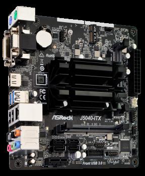 Материнська плата ASRock J5040-ITX (Intel Pentium Silver J5040, SoC, PCI-Ex1)