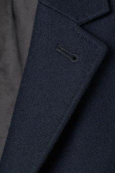 Пальто H&M 810-7659070 Темно-синє