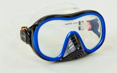 Набор для плавания маска с трубкой Zelart M171-SN132-1-SIL синий