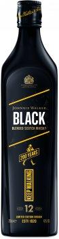 Виски Johnnie Walker Black label ICON 12 лет выдержки 0.7 л 40% (5000267179797)