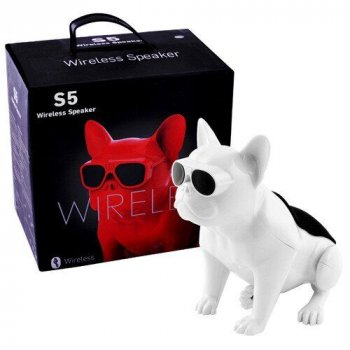 Bluetooth-колонка Aerobull DOG S5, c функцією speakerphone Біла