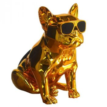 Bluetooth-колонка Aerobull BIG DOG METALLIC S4, c функцією speakerphone, радіо Золота