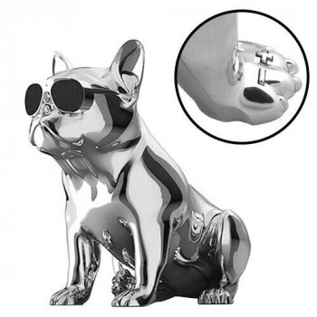 Bluetooth-колонка Aerobull BIG DOG METALLIC S4, c функцією speakerphone, радіо срібна