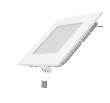 Вбудований світильник Гаусса ультратонкий квадратний IP20 6W,120х120х22, Ø105х105, 2700K 360лм 1/20