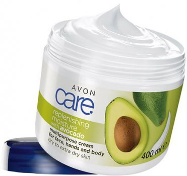Увлажняющий мультифункциональный крем для лица, рук и тела Avon с маслом авокадо 400 мл (62391)(ROZ6400101868)