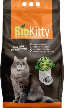 Наполнитель для кошачьего туалета BioKitty Super Premium White Бентонитовый комкующий 4.2 кг (5 л) (8680659333005/8680659333487)