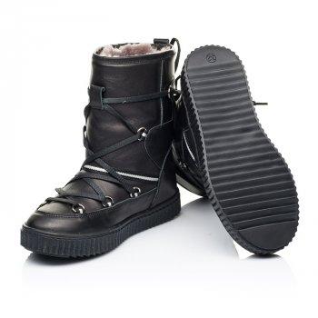 Зимние сапоги на меху Woopy Fashion черный 7184