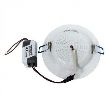 Вбудований світлодіодний світильник Feron AL527 7W коло білий 560Lm 2700K