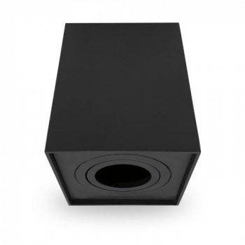 Накладної поворотний світильник квадрат Feron ML305 під лампу MR16 GU10 чорний 98*98*125мм