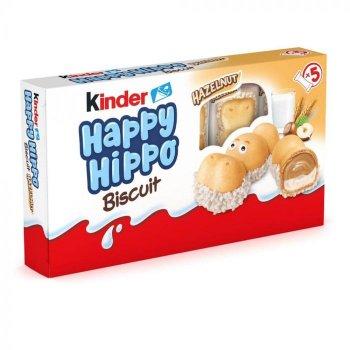 Печенье Kinder Happy Hippo с орехами и молочным кремом 105 г